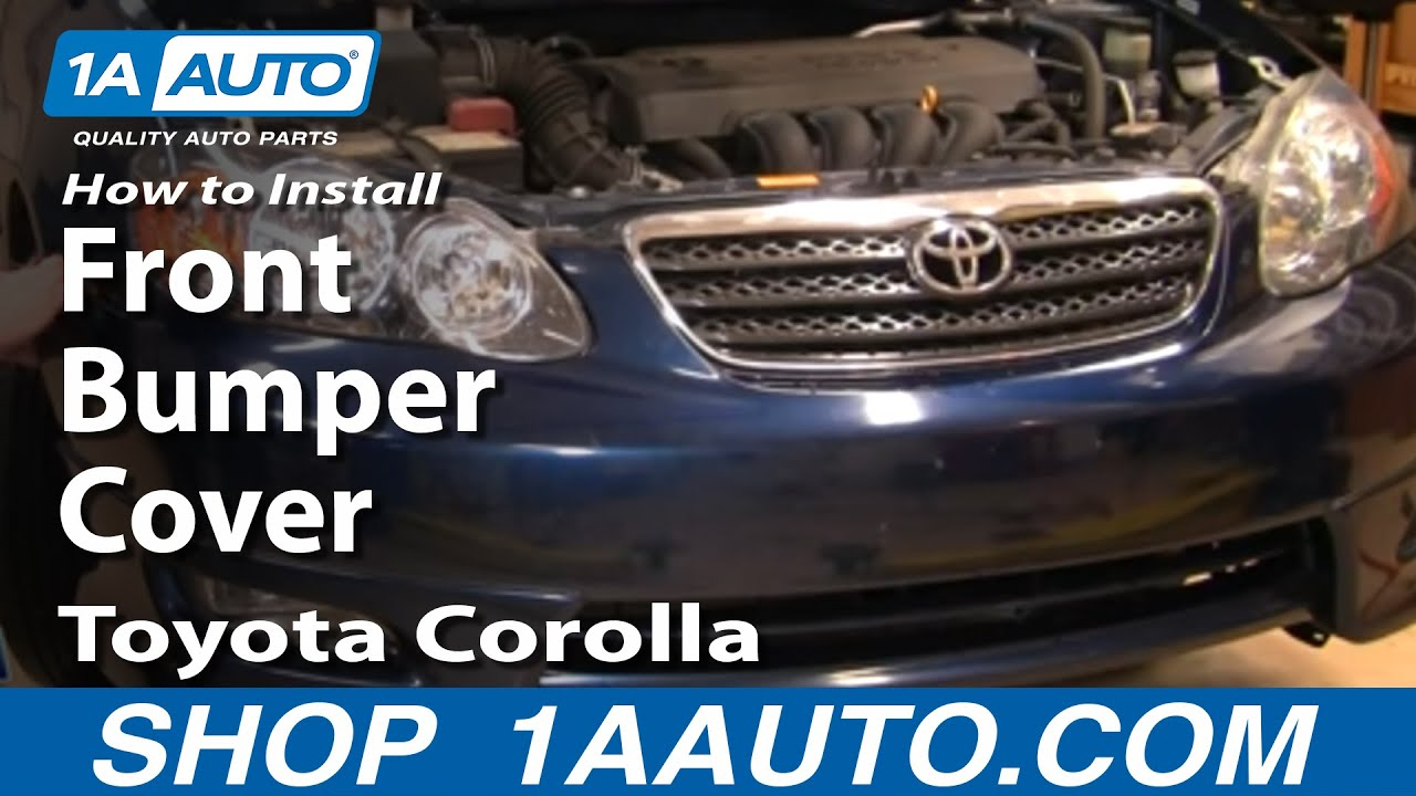 how to install replace front bumper cover toyota corolla 03 08 youtube. Black Bedroom Furniture Sets. Home Design Ideas