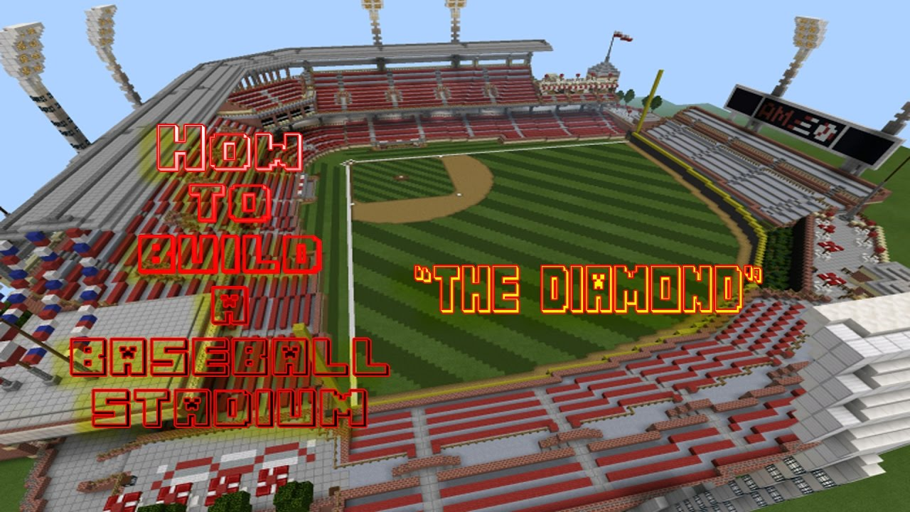 Minecraft how to build a baseball stadium best tutorial on youtube minecraft how to build a baseball stadium best tutorial on youtube episode 2 the diamond malvernweather Image collections