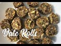 Healthy Date Rolls Recipe (with English subtitles)