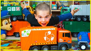 Dickie Toys Recycling Truck Toy Unboxing - Jack Jack Playing with Huge Garbage Trucks Collection