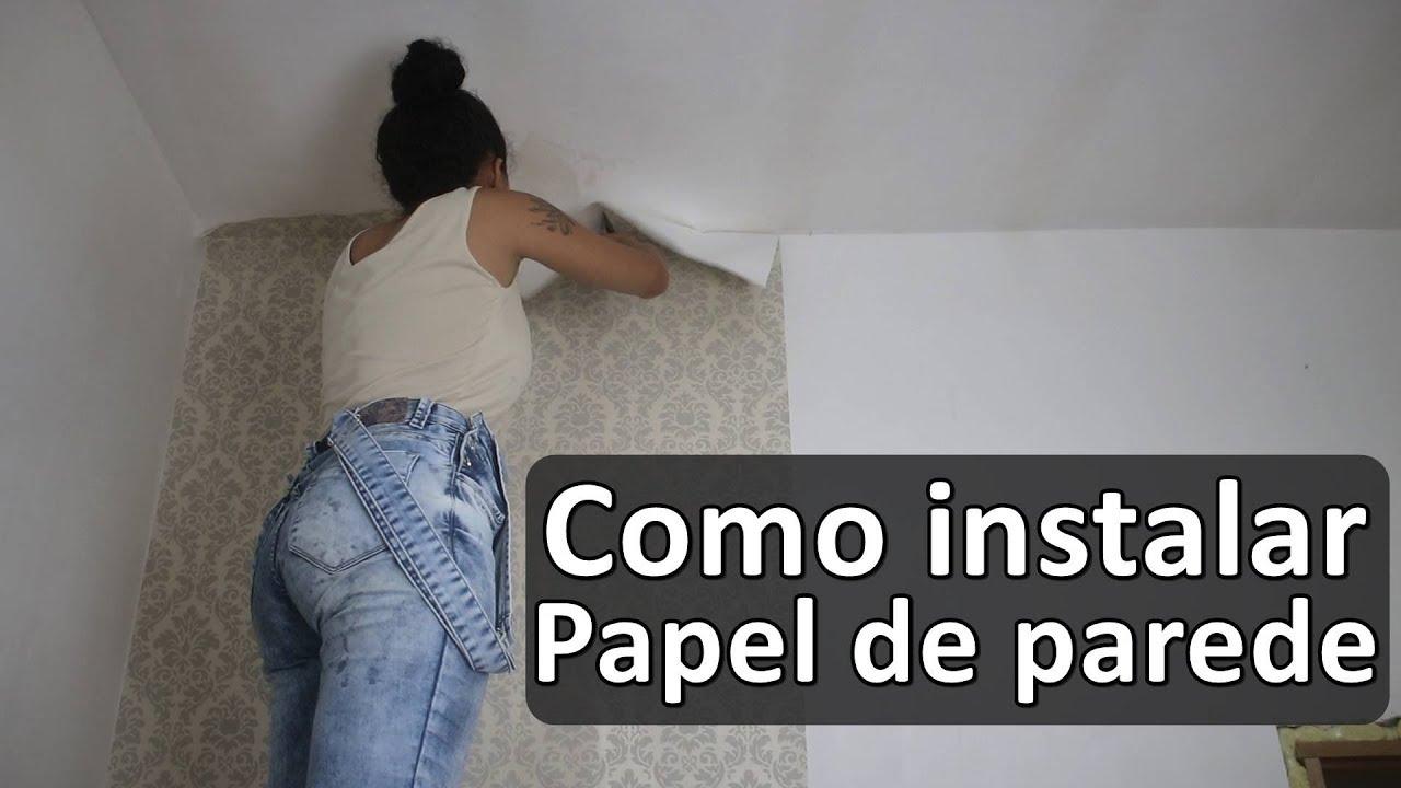 Como instalar papel de parede com paloma cipriano youtube - Papel adhesivo para paredes ...