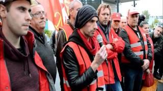 Repeat youtube video La CGT manifeste avant l'arrivée de François Hollande à Florange (2016)