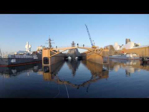 USS Montgomery Enters Dry Dock