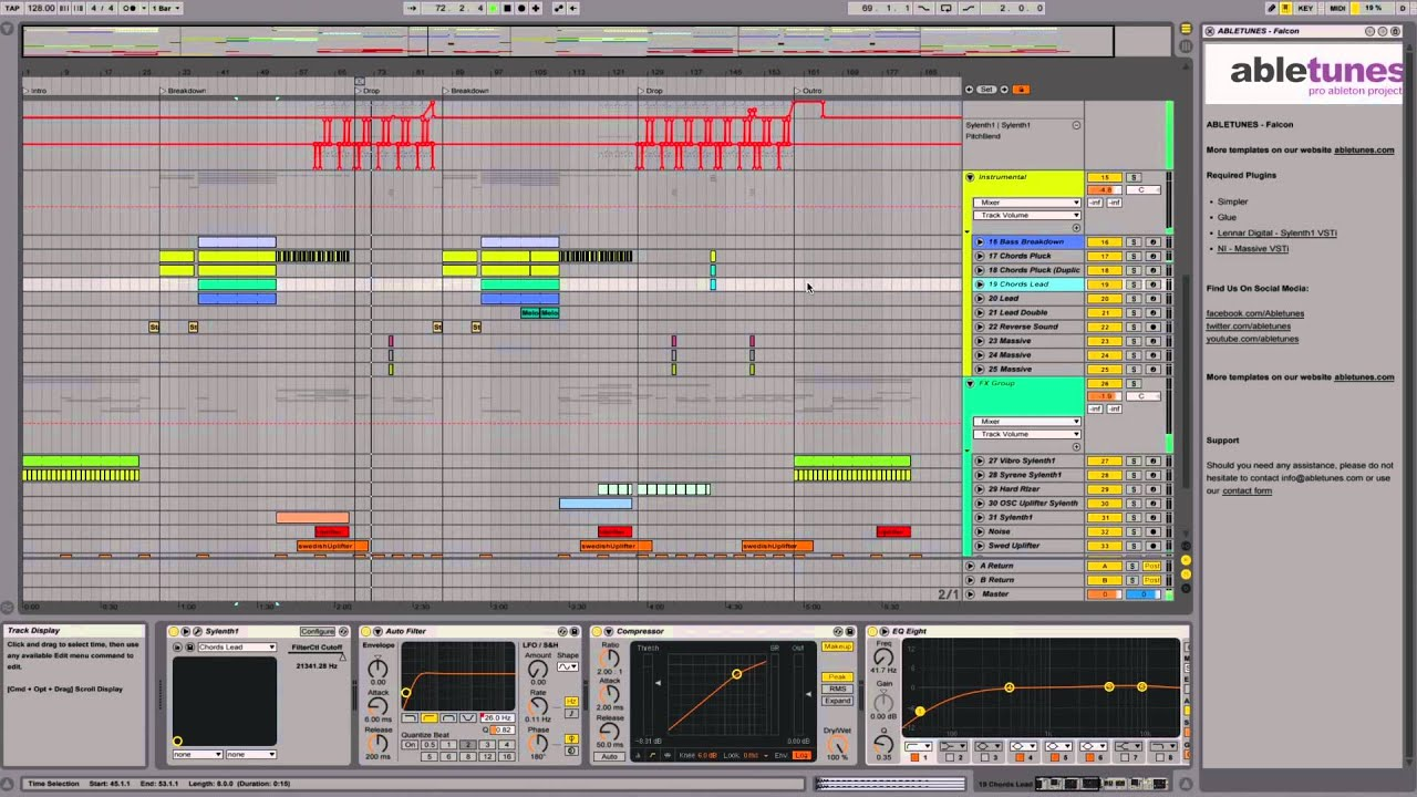 Ableton Live 9 Progressive House Template Falcon By Abletunes