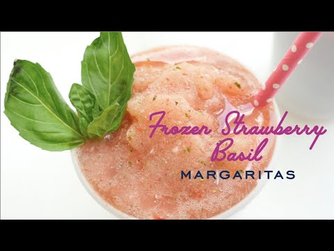 Strawberry Basil Frozen Margarita