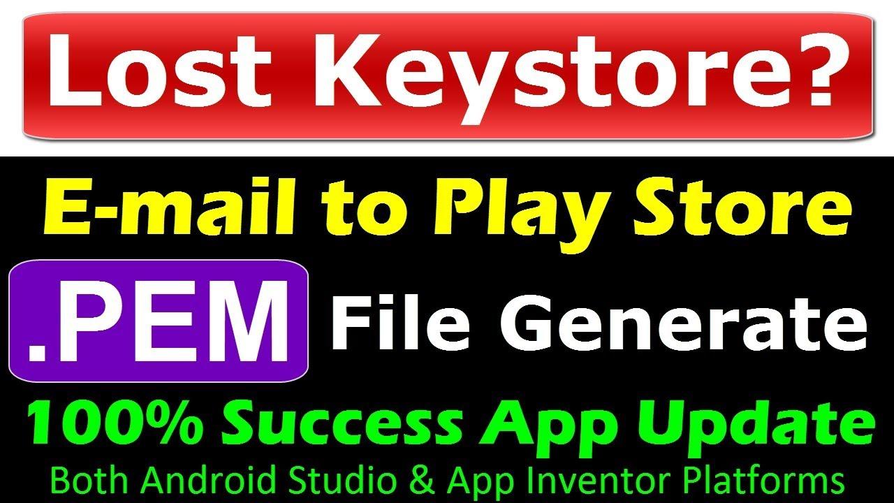 App update keystore issue? | pem file generator | Lost Keystore | reset  keystore app signing key