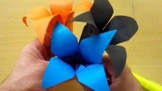 Como fazer um Origami de uma Flor (How to Make an Origami Flower) | Origamigos