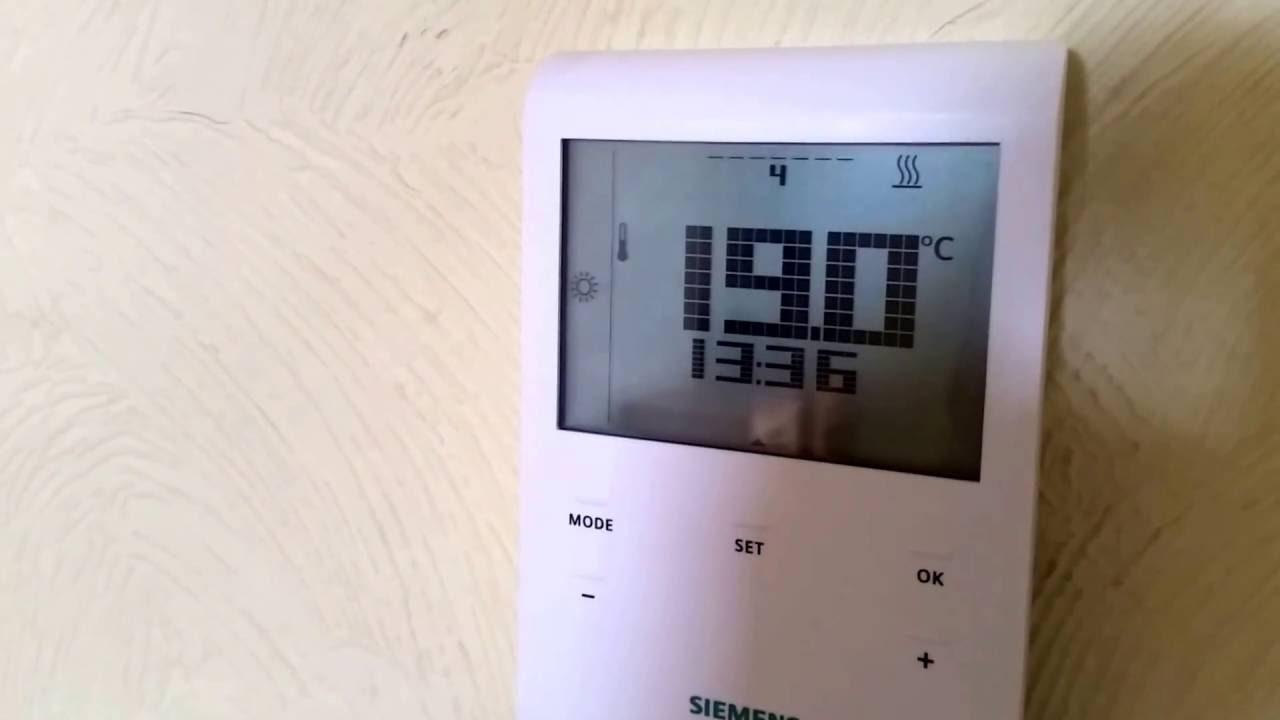 инструкция на комнатный термостат сименс rde10