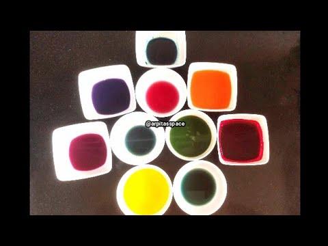 How to Make Natural Food Colors at home घर पर नेचुरल फ़ूड कलर्स बनाने की रेसिपी  Arpita's Space