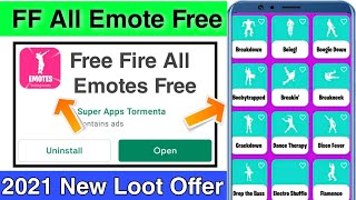 How To Get Free Unlock All Emote In Free Fire ! Free Fire Ma All Emote Free Ma Kaisa La screenshot 2