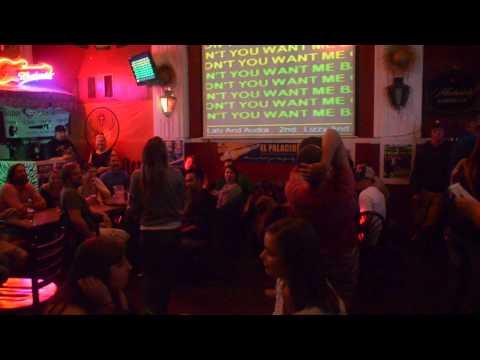 "Teran Killam & Mikey Day  having a blast!! Karaoke fun ''BABY DON'T YOU WANT ME"" OOOO''"