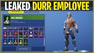 "*NEW* Fortnite: LEAKED ""GRILL SERGEANT"" SHOWCASE! *Durr Skin* 