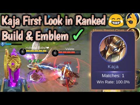 Kaja First Look in Ranked??? Build & Emblem Set | Mobile Legends: Bang Bang thumbnail