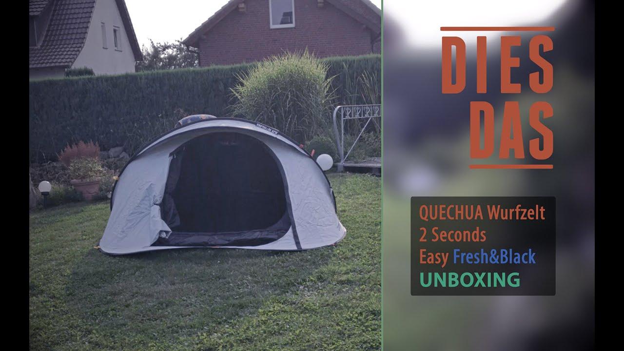 wurfzelt quechua fresh and black festival tipp der extraklasse deutsch youtube. Black Bedroom Furniture Sets. Home Design Ideas