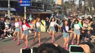 160402 Oh My Girl Hongdae Guerrilla Concert full ENG SUB