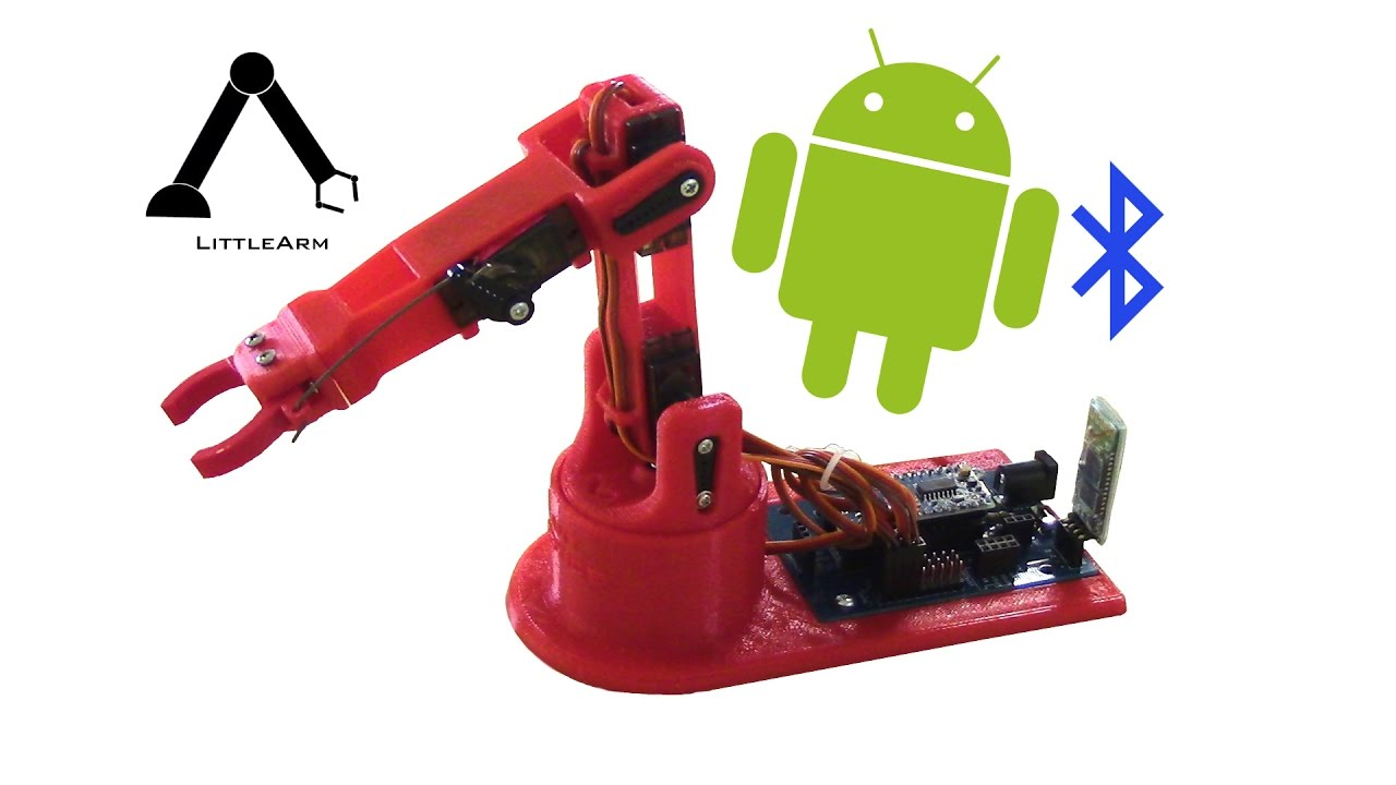 Bluetooth and using android app for littlearm arduino