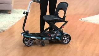 EV Rider TranSport Folding Mobility Travel Scooter with Jill Bauer