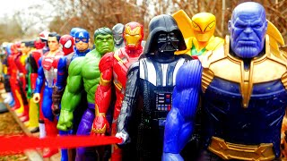 SUPERHEROES! Thanos vs Avengers, Spider-Man, Hulk, DC Justice League, Star Wars, TMNT, Power Rangers