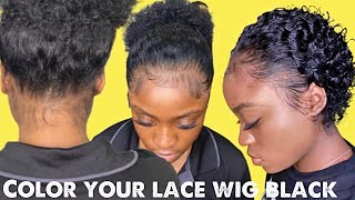 Bomb Babyhair Plus/Coloring Your Lace wig Jet Black #boldhold