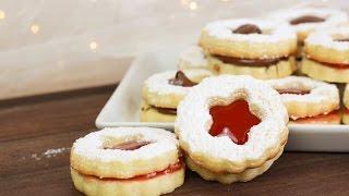 Spitzbuben Plätzchen mit Marmelade und Nutella - Bestes Rezept / Weihnachtsplätzchen