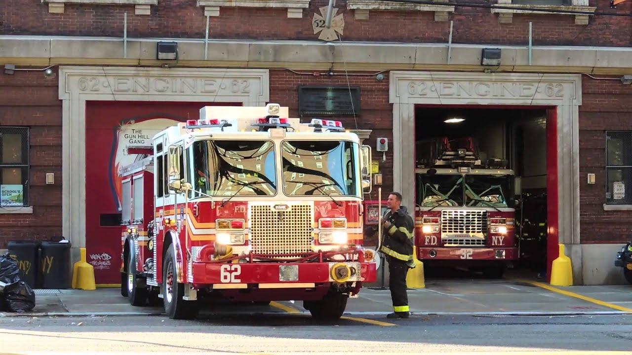 Fdny New Engine 62 Ladder 32 Responding Youtube