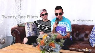 GRAMMY Pro Interview with Twenty One Pilots at Lollapalooza 2015