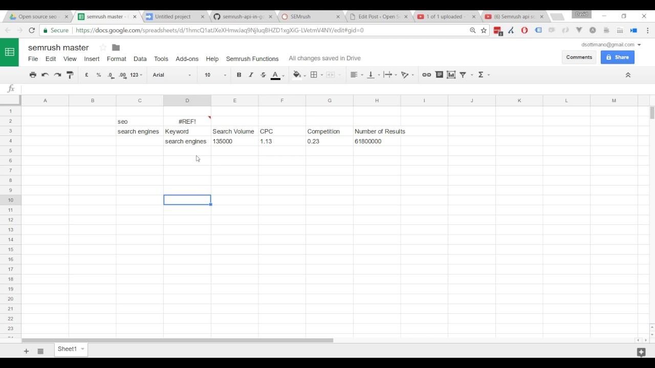Semrush API - keyword volume formula - Opensourceseo org