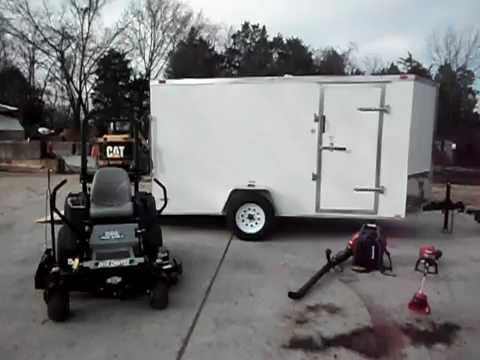 50'' Dixie Chopper Iron Eagle Mower with 25 HP Kohler Engine, Enclosed  Trailer, and Equipment