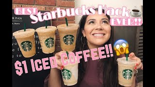 $1 STARBUCKS ICED COFFEE HACK | DIY KETO FRIENDLY