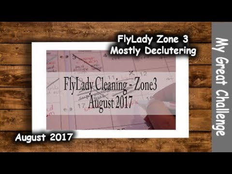 FlyLady Cleaning  || Zone Three || August 2017 (Mostly Decluttering in the Zone)