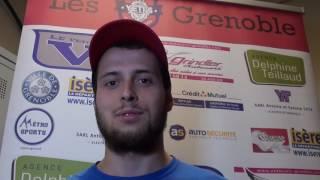 INTERVIEW NICOLAS GAUTHIER DEFENSEUR YETI'S GRENOBLE 2EME MATCH PLAY-OFFS ROLLER-HOCKEY 2016-2017