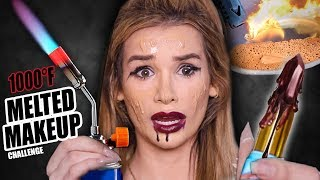 Download FULL FACE using ONLY MELTED MAKEUP Challenge! (1000°F EXPERIMENT) Mp3 and Videos