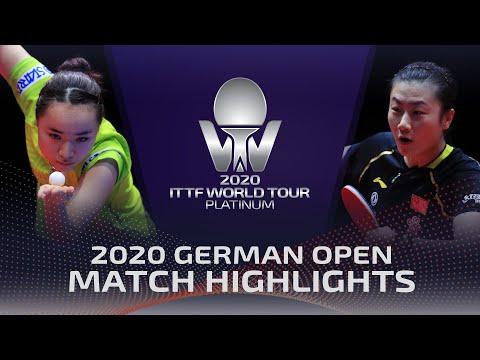 Mima Ito Vs Ding Ning   2020 ITTF German Open Highlights (1/4)
