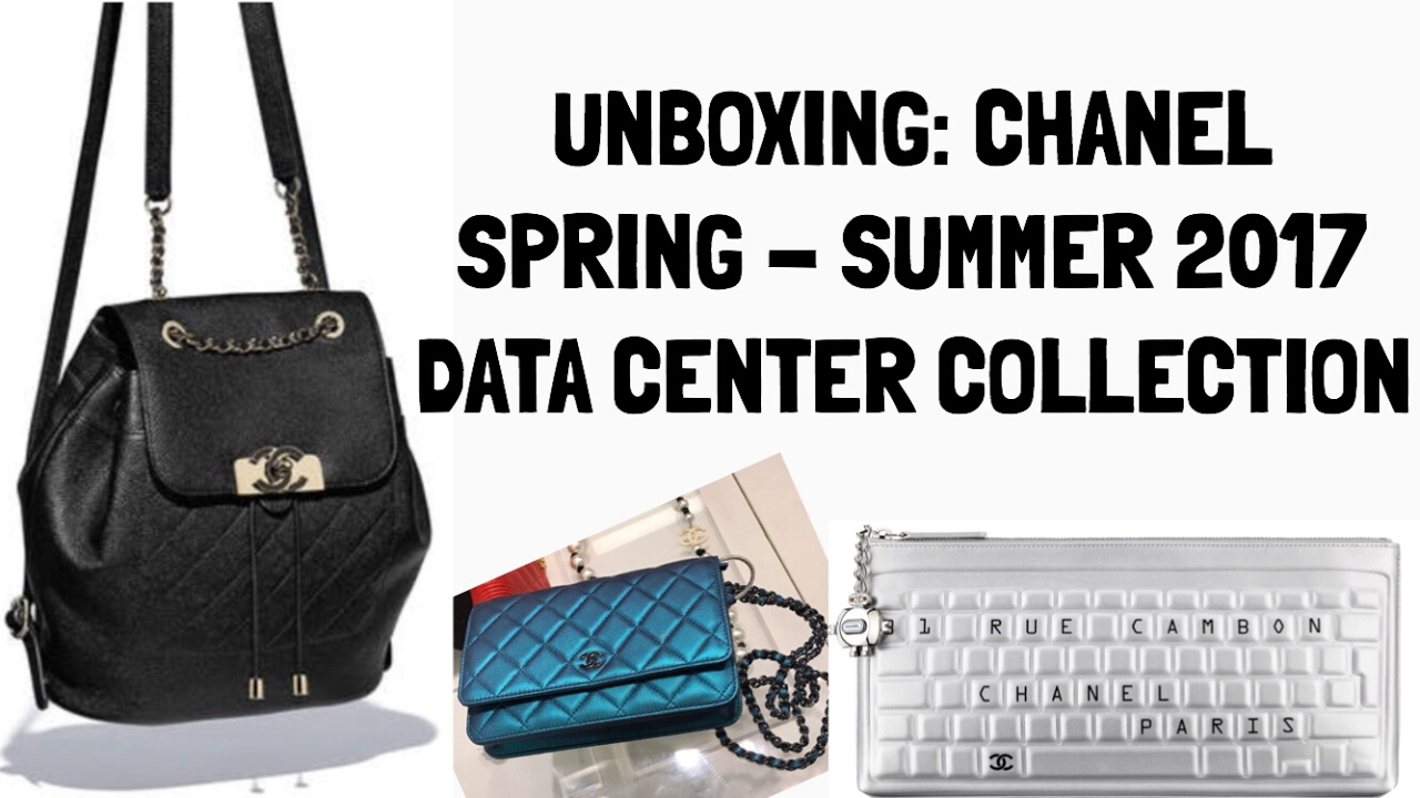 a380c5b8b58e25 CHANEL DATA CENTER COLLECTION: Spring 2017 ; WOC, Clutch, Backpack ...