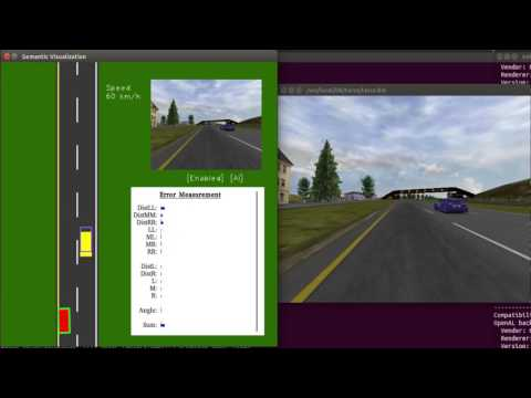 DeepDriving (Caffe 1.0.0rc5) in TORCS with 3 lanes