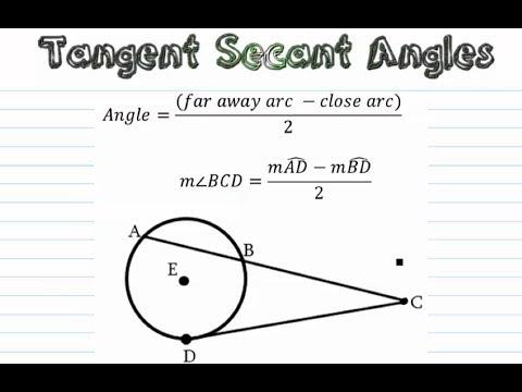 Circles - Tangent - Secant Angles