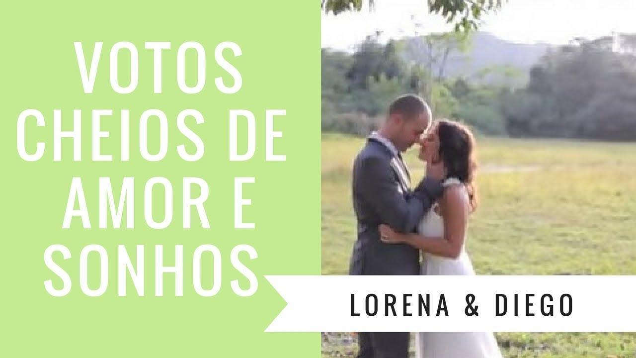 Preferência Os votos de casamento MAIS emocionantes: Lorena e Diego - IC TV  NV28