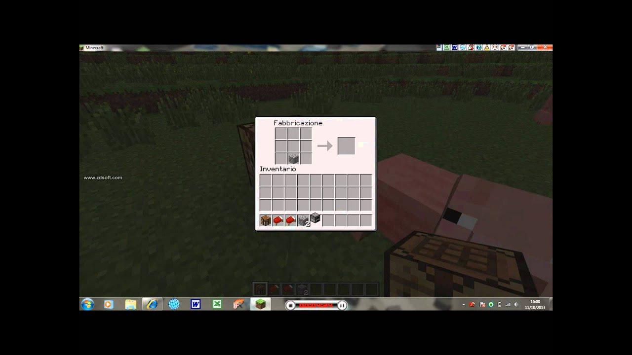 minecraft tutorial come costruire crafting table,letto ...