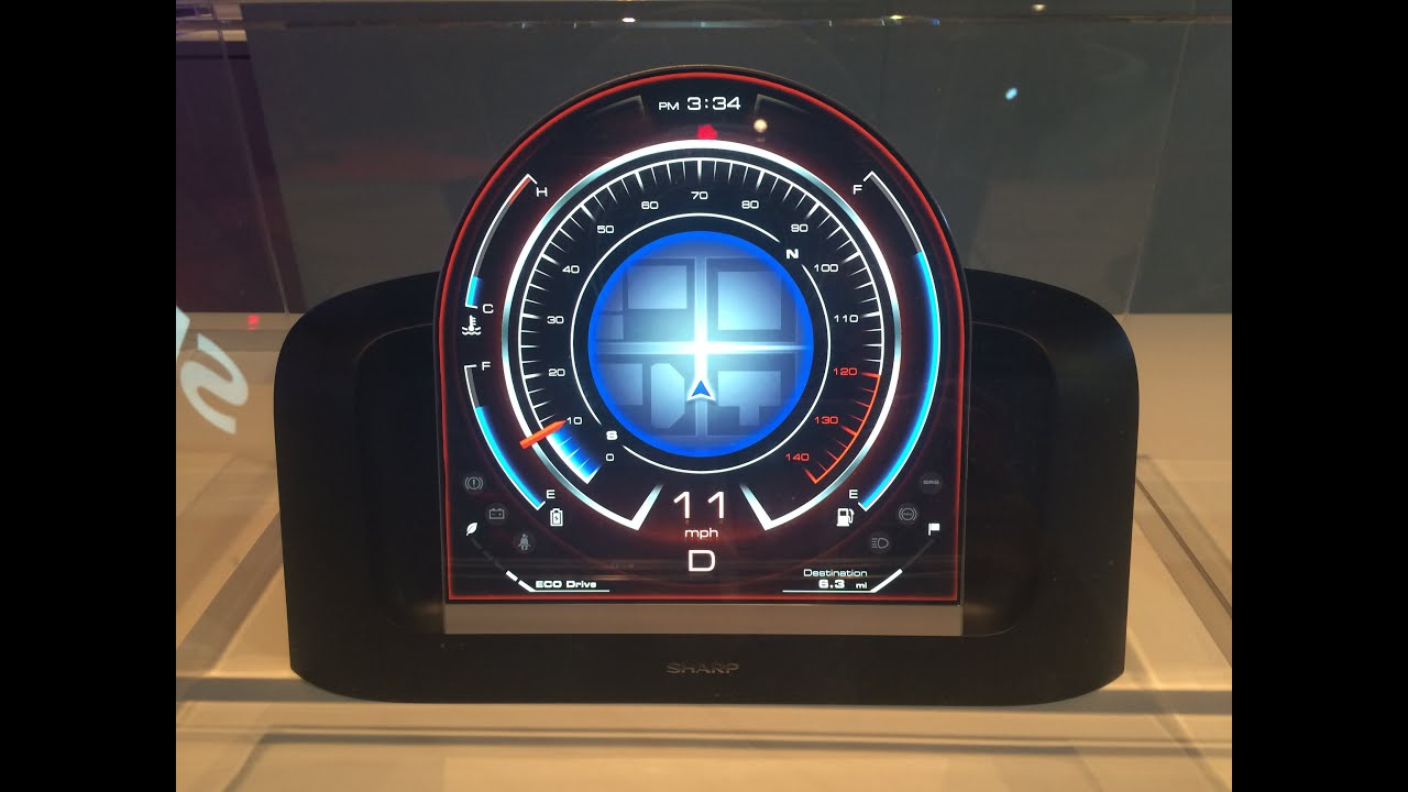 Sharp Free Form Displays Circular Smartphone Fancy Car