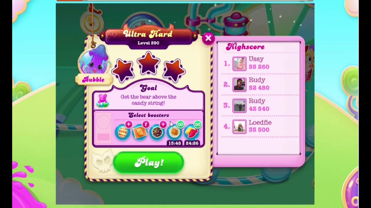 Candy Crush Soda Saga LEVEL 290 (3 STAR)
