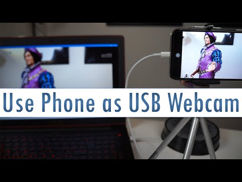 Use Your Phone As USB Webcam For Streaming (OBS) Or Online Chat!