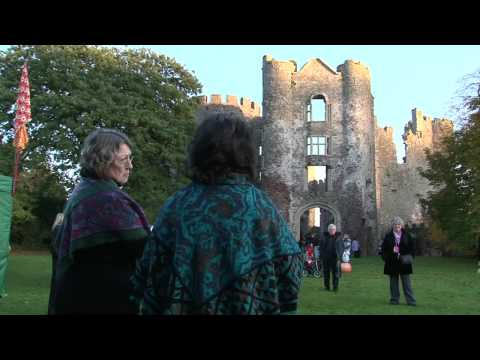 Laugharne castle YouTube