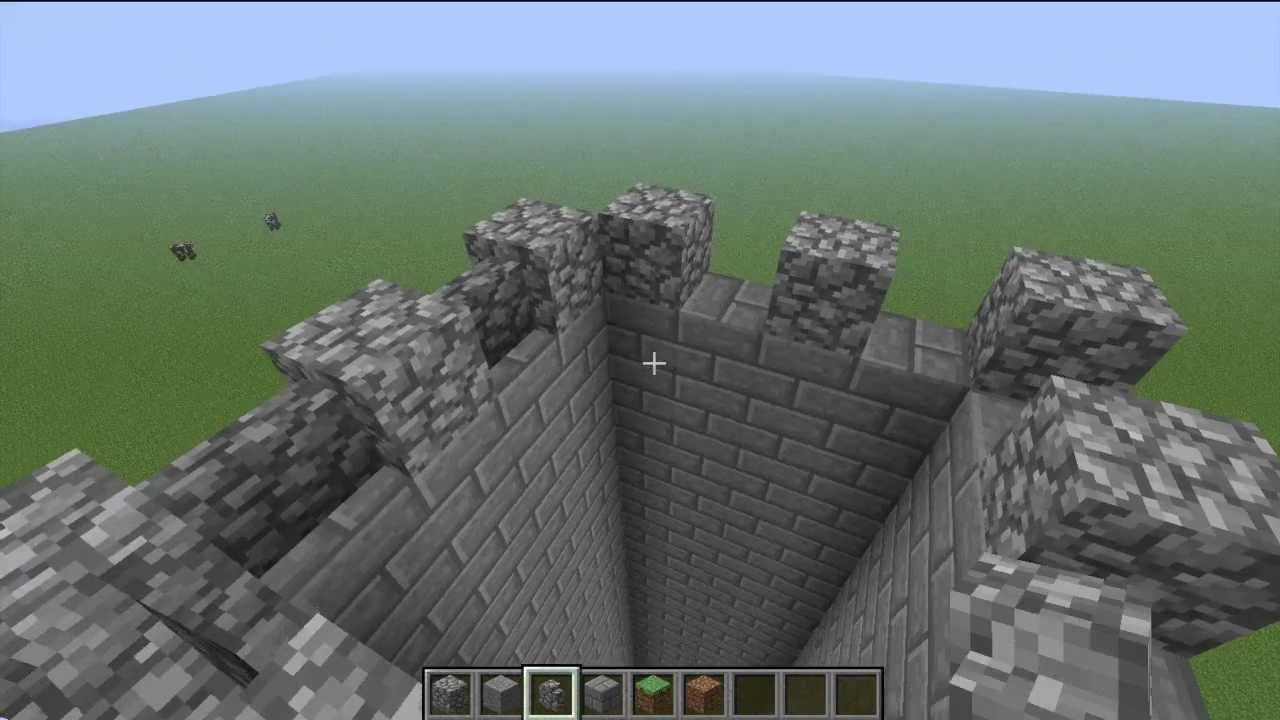 Tuto partie 1 construire un chateau minecraft youtube - Chateau de minecraft ...