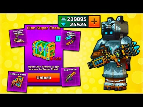 Pixel Gun 3D | Spending 200,000+ SILVER On CLAN Super Chest Weapons (INSANE OPENING!)