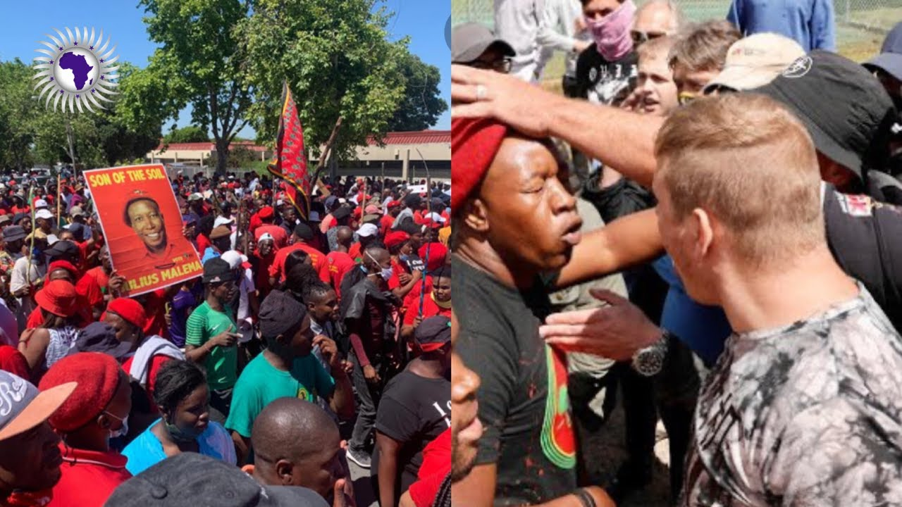 EFF Protests Against R*cism In Brackenfell Capetown