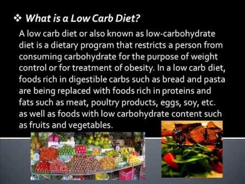 Low carbohydrate diet benefits
