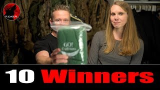 These are the Winners!   Christmas Hammock Giveaway