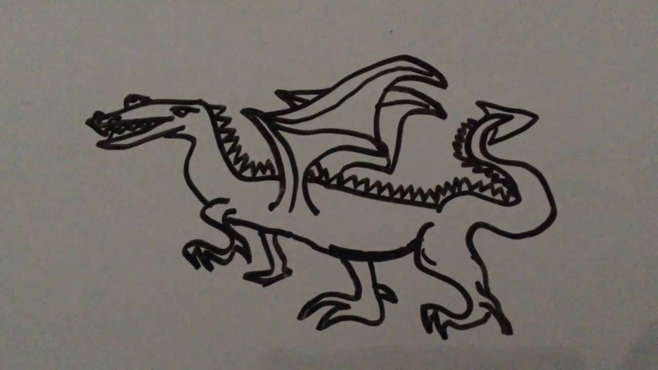 Drawing A Dragon On A Whiteboard Easy