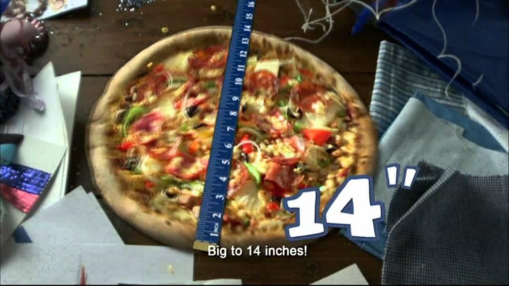 Pizza Hut 14 Inches Pizza Cm Youtube