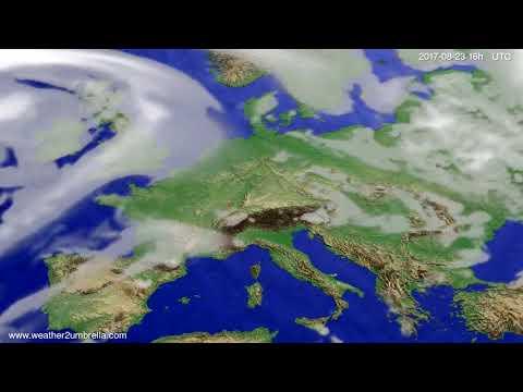 Cloud forecast Europe 2017-08-20